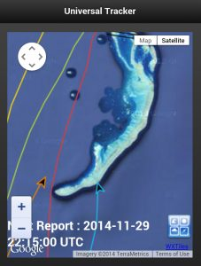 Tracks of the other competitors showing just how close other boats came.